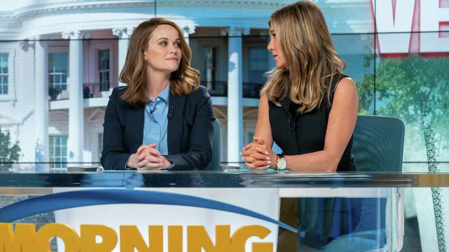"9. ""The Morning Show"" (Apple TV+). This new drama inspired by real events under the umbrella of #MeToo is irresistible primarily because of its top-notch cast, led by Jennifer Aniston and Reese Witherspoon. Set in the cutthroat world of network morning news, the riveting story unfolds largely from the perspective of their characters, Alex and Bradley, career journalists whose lives are drastically changed by the outing and firing of Alex's popular co-anchor Mitch (Steve Carell), who, for years, was guilty of sexual misconduct with female co-workers. The entire season is available on Apple TV+. Photo: Apple TV+"