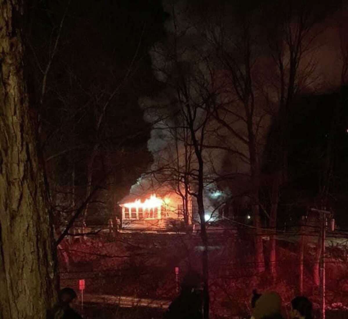 Firefighters battled a blaze in a structure on Main Street in Washington on Sunday, Dec. 22.