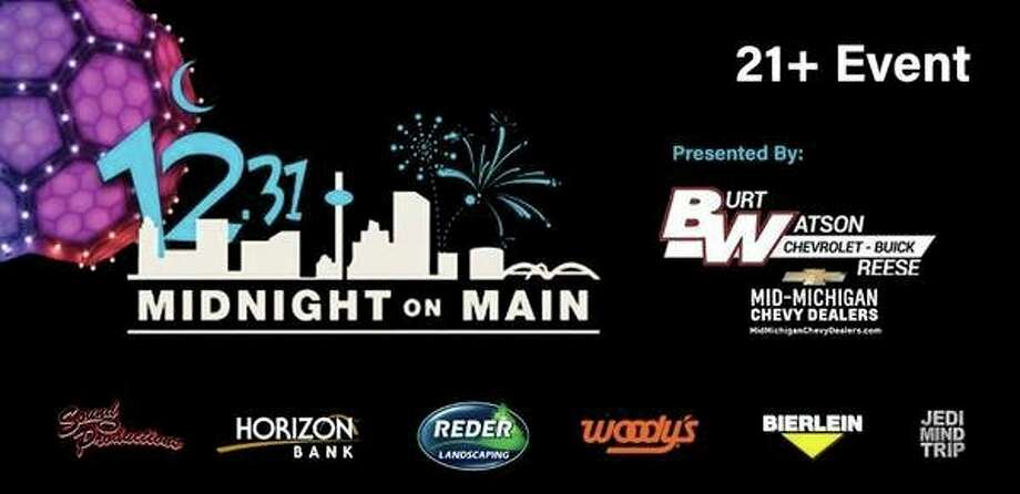 Tuesday, Dec. 31: 8th annual Midnight on Main celebration is set to begin at 8 p.m. at Dow Diamond in Midland. Dow Diamond's concourse will be transformed into two separate nightclubs featuring live music and DJ's, along with a lounge for watching the night's biggest sporting events. (Photo provided/Midnight on MainFacebook)