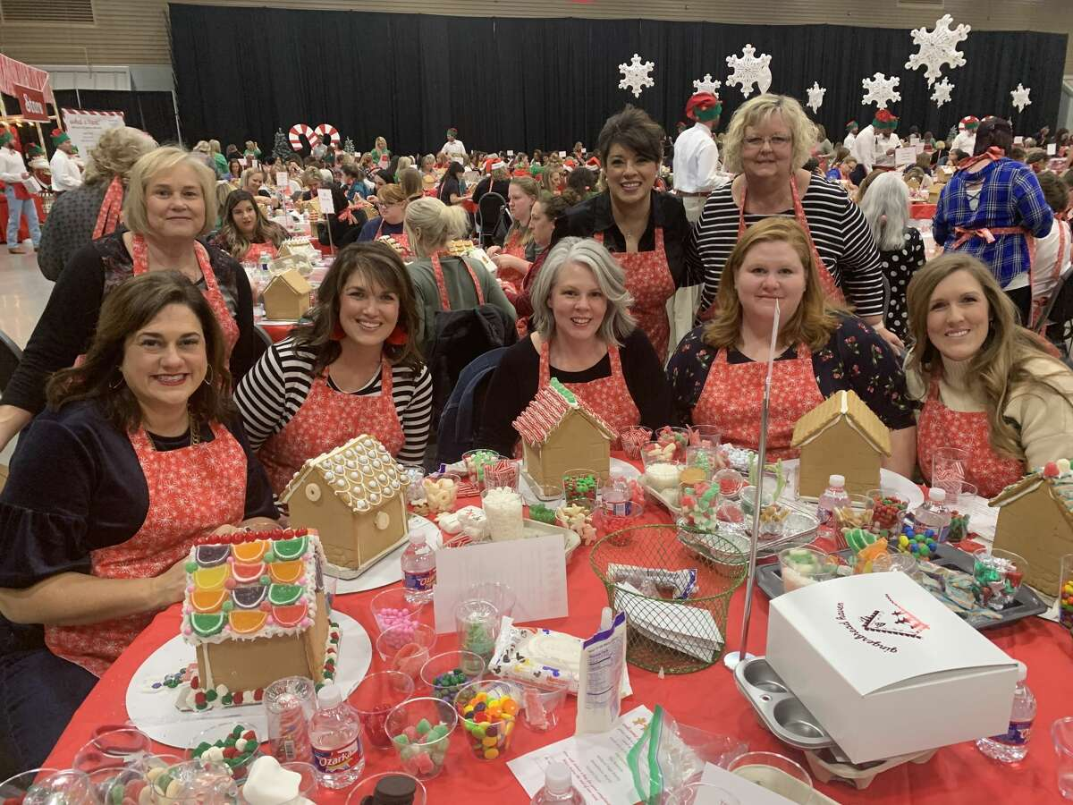Gingerbread: Vickie Collins, back row from left, Sissy Arreguin and Judy Lewis; Bethany LeRoy, front row from left, Marleah Reed, Christie Hamilton, Melissa Ellis and Katie Robinson