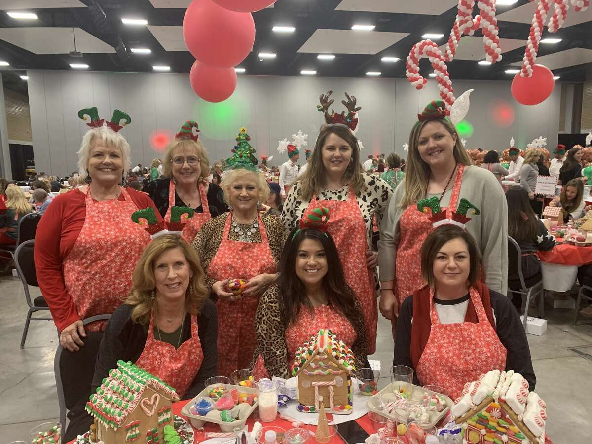 Gingerbread: Lisa Morgan, back row from left, Kathy Young, Cathie Broten, Melissa Durgin and Andrea Madrid; Diane Williams, front row from left, Samantha Morrow and Laci Wylie