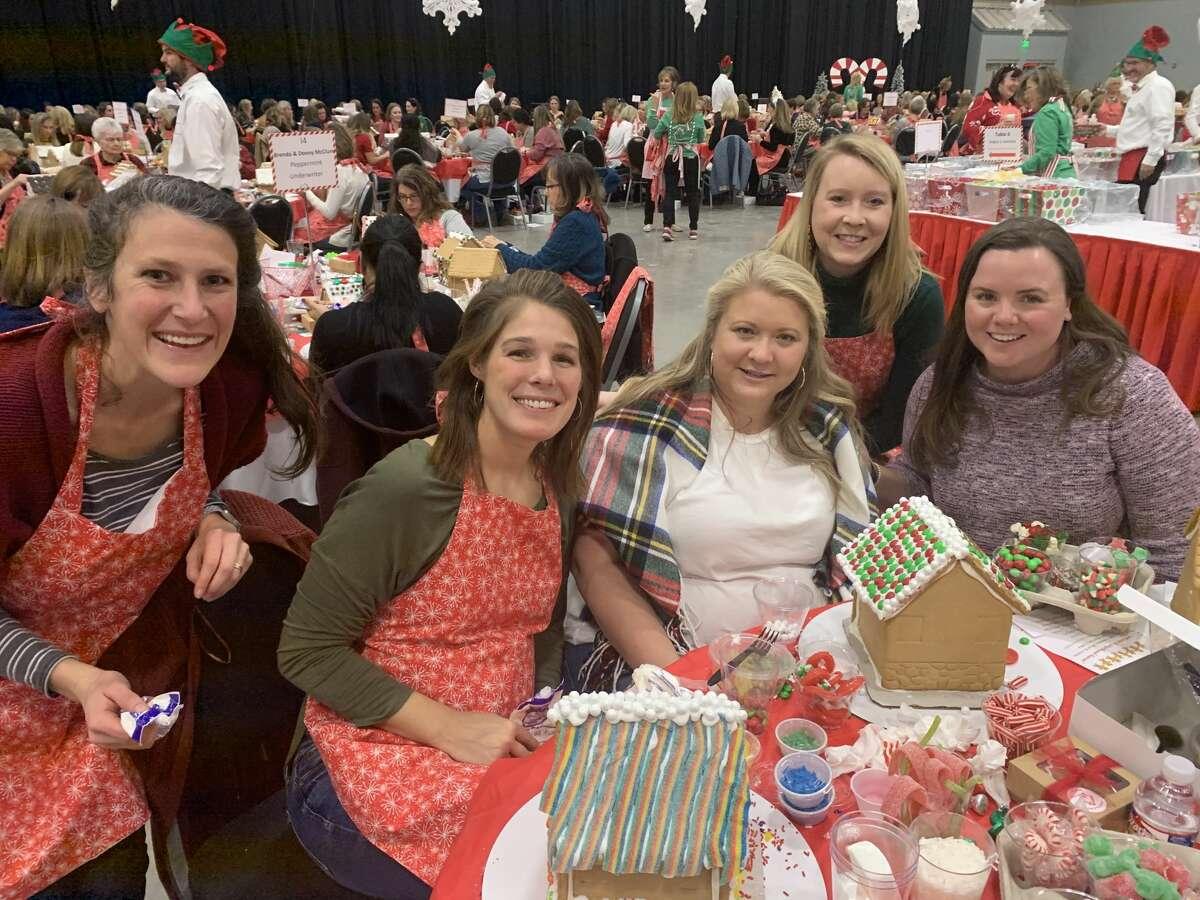 Gingerbread: Randi Stallings, from left. Carrie Stallings, Claire Ramirez, Kristin Wilson and Colleen Jordan