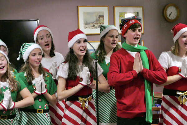 """""""The Crystal Singers"""" perform their """"Holiday Cabaret"""" on tour, Dec. 2019."""