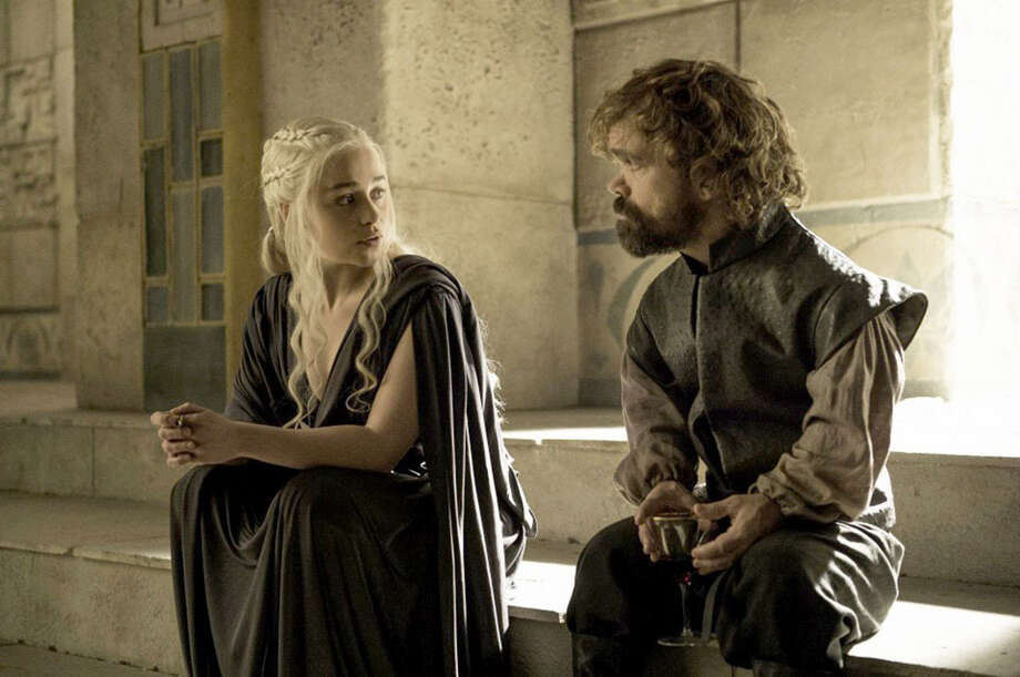 "Emilia Clarke as Daenerys Targaryen and Peter Dinklage as Tyrion Lannister in HBO's ""Game of Thrones."" Photo: Helen Sloan, HBO / Handout"