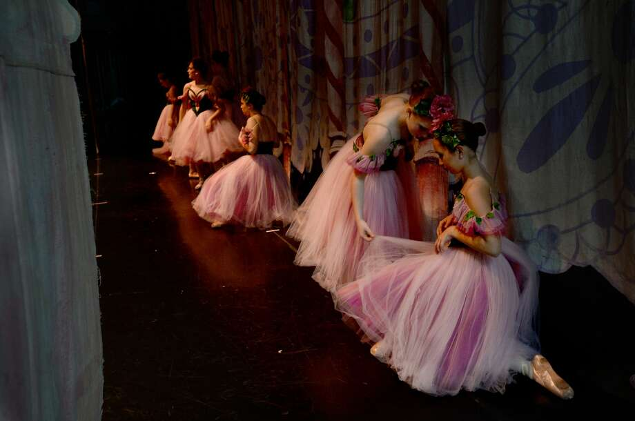 "Beaumont Civic Ballet members take to the stage at the Julie Rogers Theatre Friday, performing the first act of its 48th annual performance of ""The Nutcracker"" for two school groups in the morning, followed by a second act full dress rehearsal. The holiday classic will have two showings this weekend - Saturday and Sunday at 2:30 p.m. Photo taken Friday, December 13, 2019 Kim Brent/The Enterprise Photo: Kim Brent/The Enterprise"