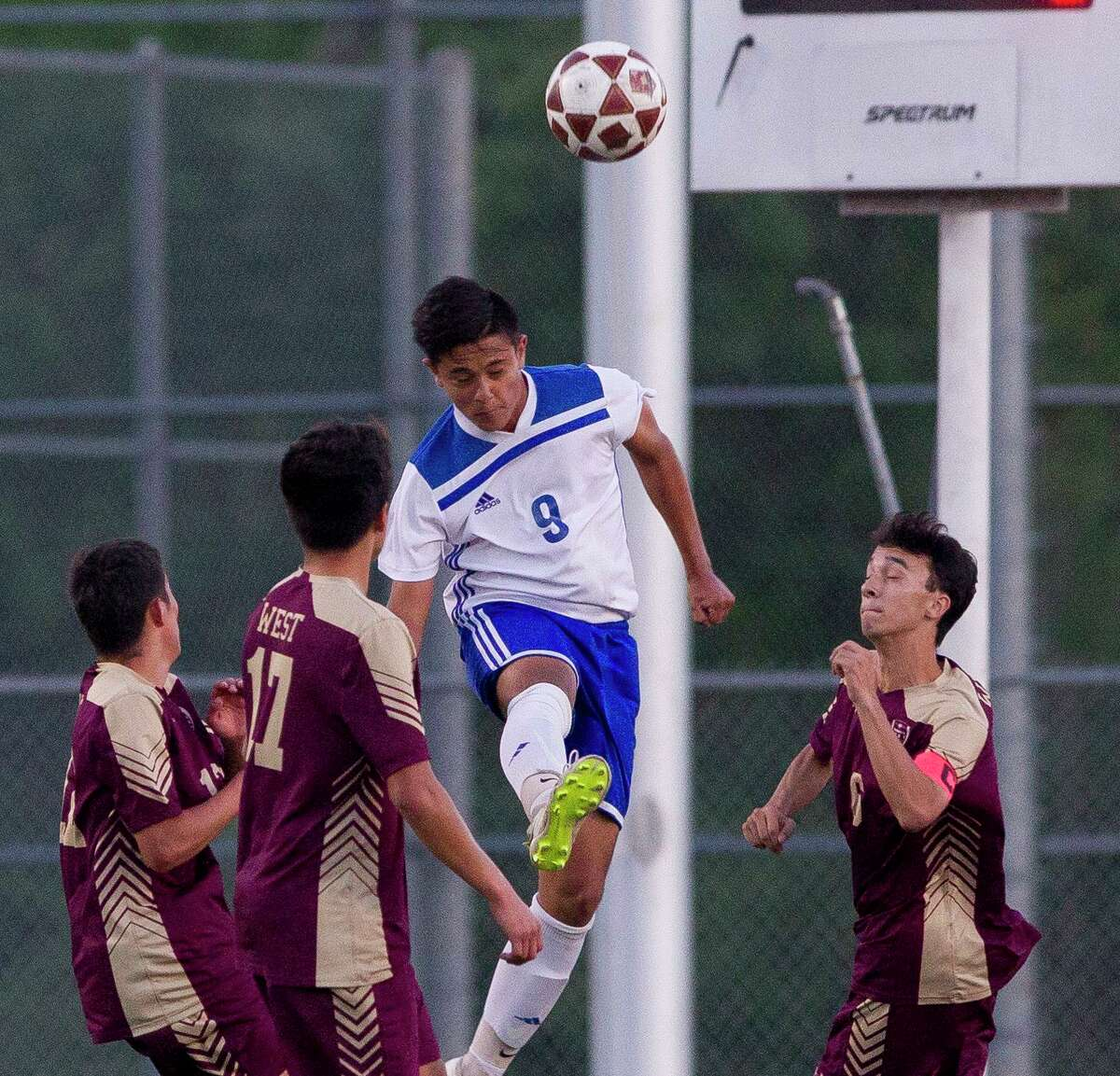 New Caney senior Charlie Aguilera plans to study engineering in college.