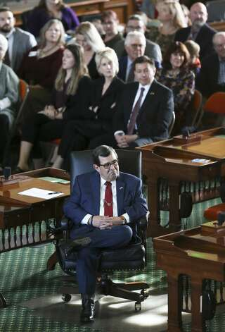 State Senator Pete Flores listens to the proceedings on the floor of the Senate as the 86th State Legislature convenes on Jan. 8, 2019. Photo: Tom Reel/Staff Photographer