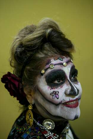 Carmen Sassan poses in costume during Boo Fest held by the Gonzaba Medical Group at the San Antonio Event Center in San Antonio on Oct. 24, 2019. This year marks the 11th year of the annual Halloween party which has grown from 50 attendees in 2008 to 2,000 people at this year's gathering. Photo: Josie Norris/The San Antonio Express-News