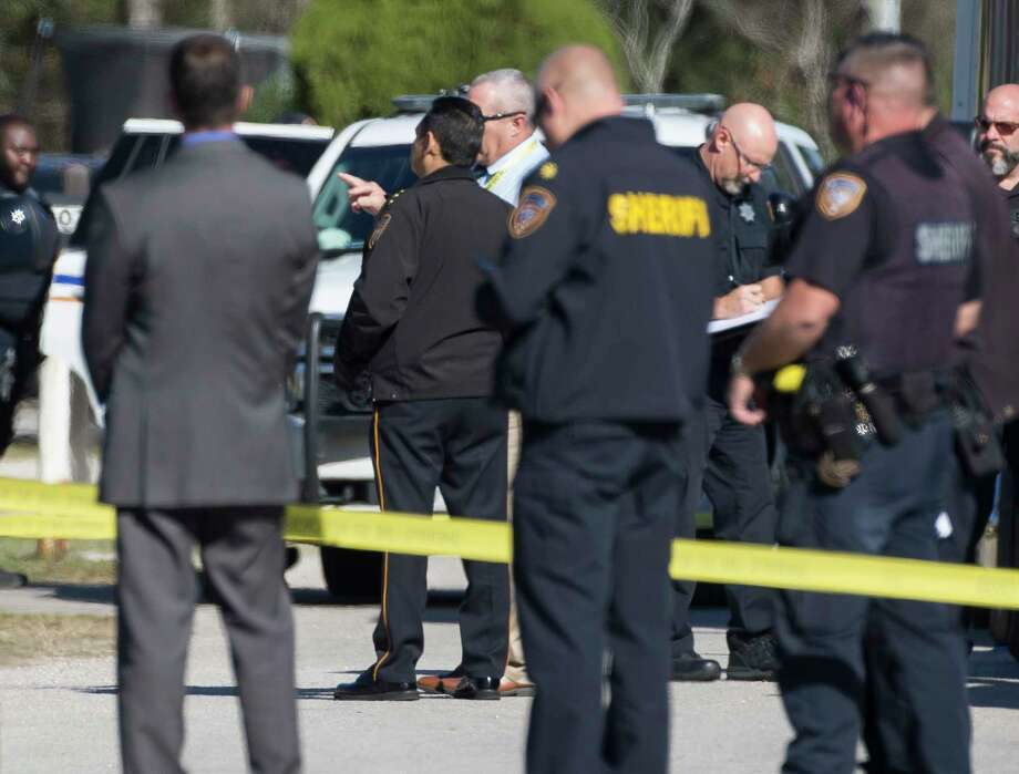 Harris County Sheriff Ed Gonzalez arrived at the home invasion robbery attempt scene, where three suspects were shot to death, on the 1800 block of Amie Michele Lane on Monday, Dec. 23, 2019, in Channelview. Photo: Yi-Chin Lee, Staff Photographer / © 2019 Houston Chronicle