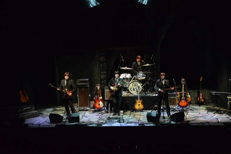 """The """"Cast of Beatlemania"""" performers on stage. Photo: Infinity Hall / Contributed Photo"""
