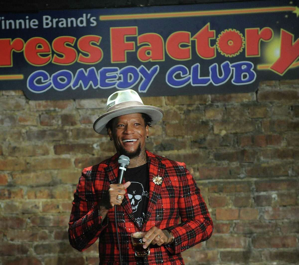 D.L Hughley performs at The Stress Factory in New Jersey in 2019.
