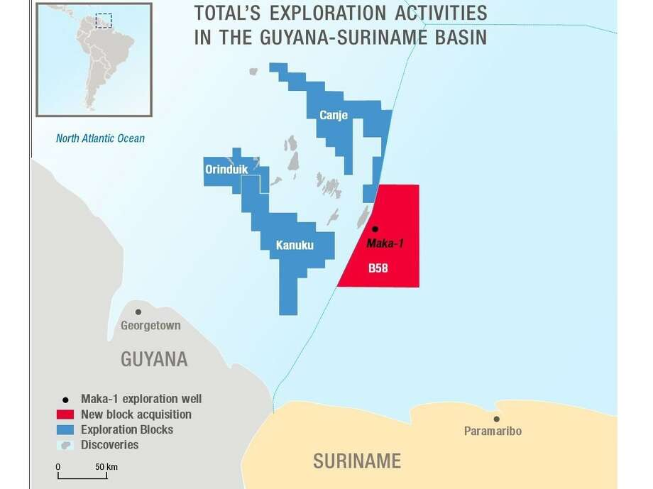 French oil major Total is entering the South American nation of Suriname after entering into a joint venture for an offshore project with Houston exploration and production company Apache Corp. Photo: Total SA