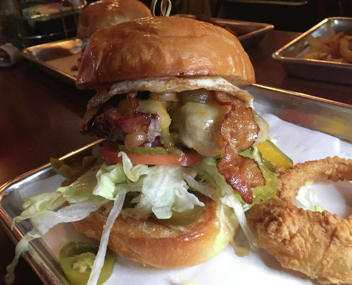 Broadway 5050 has its full menu available for curbside pickup. Pictured is the The 09ER burger.
