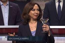 "Maya Rudolph crashes the ""Saturday Night Live"" cold open on Dec. 21, 2019 as Senator Kamala Harris."