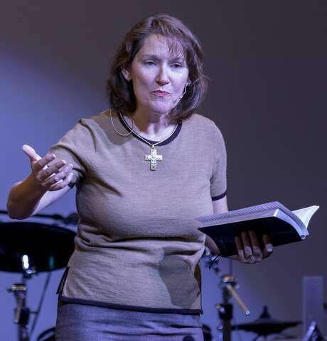 Dawn Weaks, co-pastor of the Connection Christian Church Odessa, talks Sept. 1 about the shootings in Odessa and Midland on Aug. 31. Photo: Jacy Lewis/Reporter-Telegram