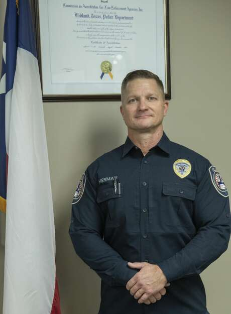Midland Police Chief Seth Herman, seen at the department on Dec. 4, was at a birthday party for his mother in Brownwood on Aug. 31 when he was informed about the mass shootings. Photo: Tim Fischer/Midland Reporter-Telegram
