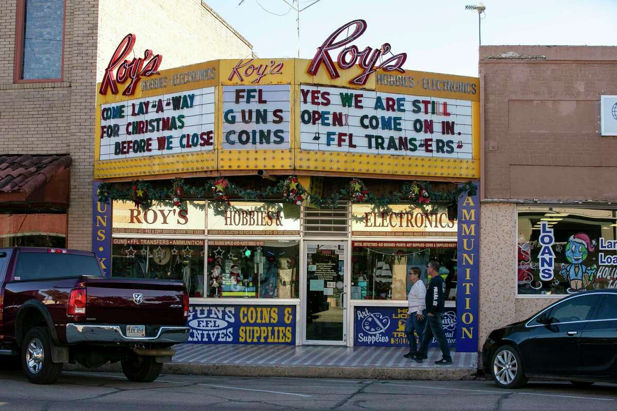 Ammo, guns and electronics are all sold at Roy's on East Kleberg Avenue in downtown Kingsville.