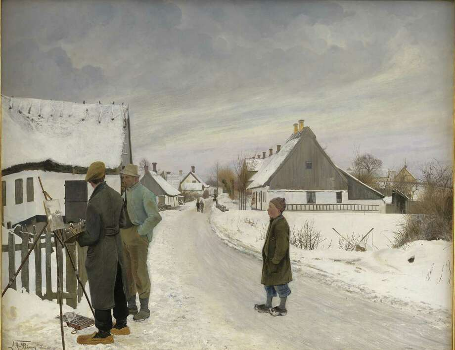"Laurits Andersen Ring's oil-on-canvas ""The Painter in the Village,"" 1897. Photo: Bruce Museum / Contributed Photo / Public Domain (CC0)"