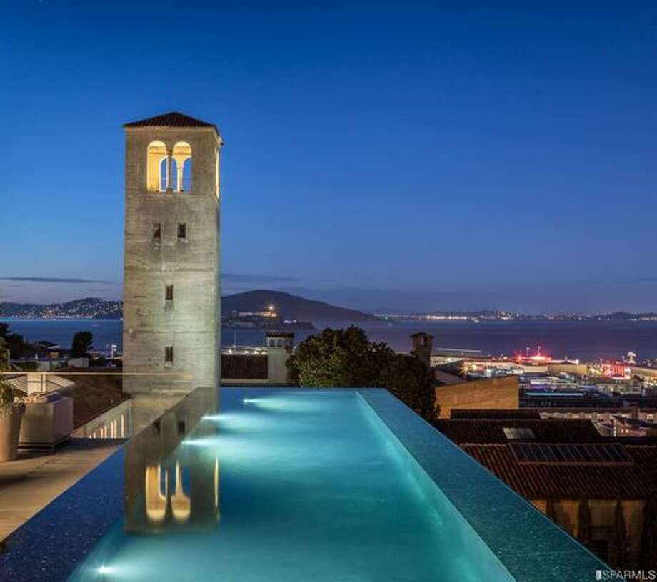 With a pool and a view and more, 950 Lombard is unsold for over a year, and still asks over $40M. Photo: RMLS