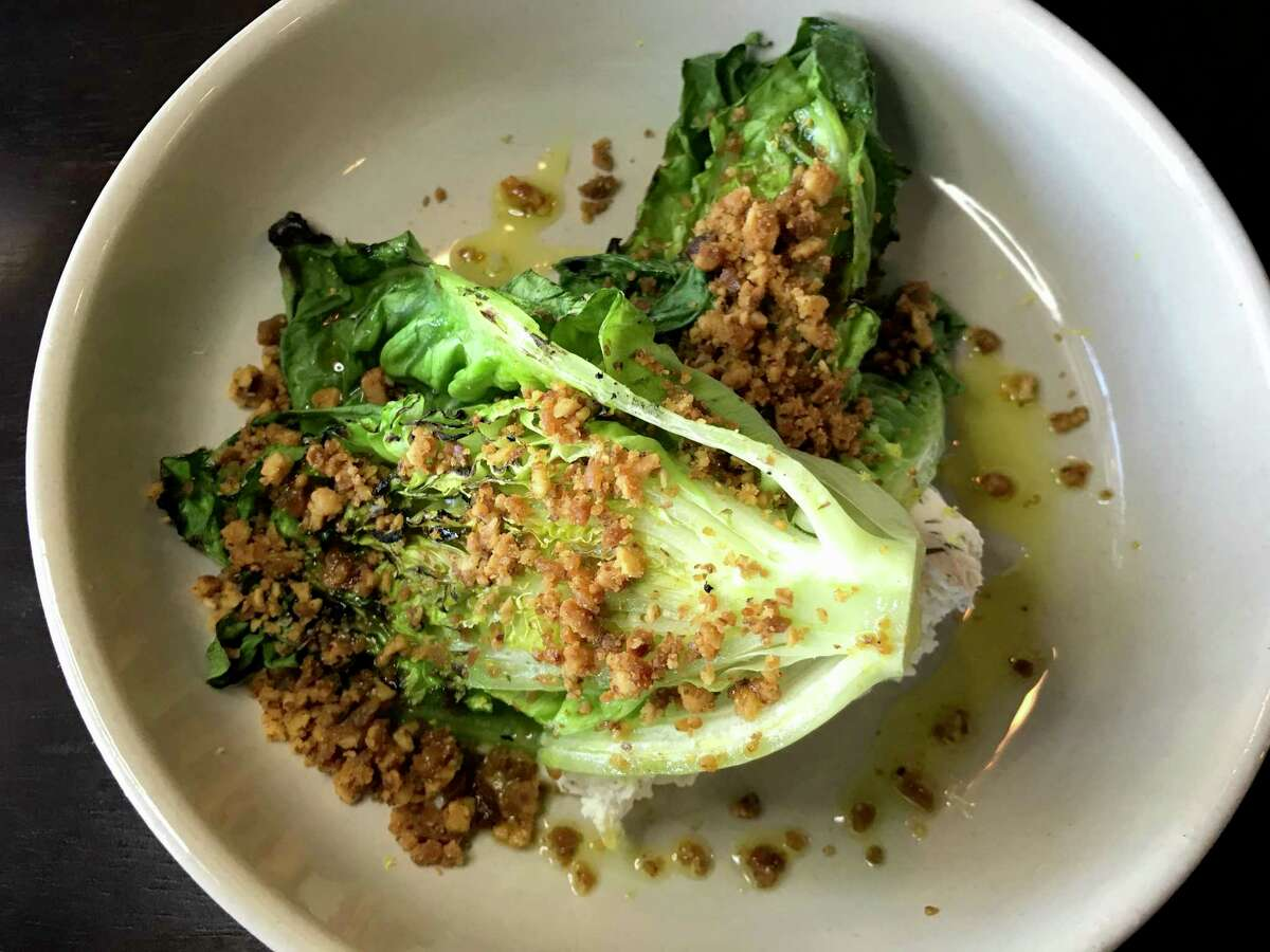 Grilled romaine lettuce salad from The Magpie