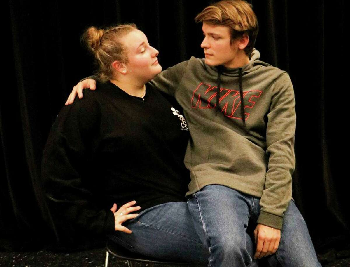 """Brooklynn King, left, and Michael Scott will perfom """"I Get a Kick Out of You."""" in Pearland High School's production of """"Anything Goes."""" Shows will be at 7 p.m. Jan. 30 through Feb. 1 and Feb. 6-8 at the school auditorium, 3775 S. Main."""