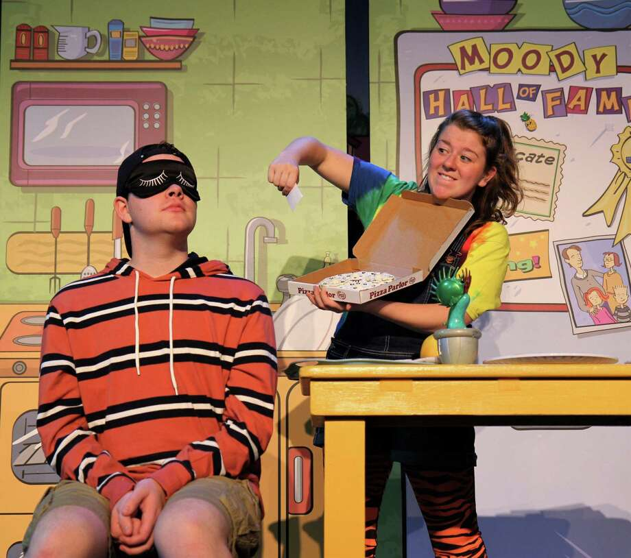 """Frank Monier (Stink Moody) and Erin Lynn Hassett (Judy Moody) are seen here in """"Judy Moody & Stink,"""" onstage at Westport Country Playhouse, Jan. 12. Photo: ArtsPower / Contributed Photo / Copyright (c) 2019 ArtsPower National Touring Theatre"""