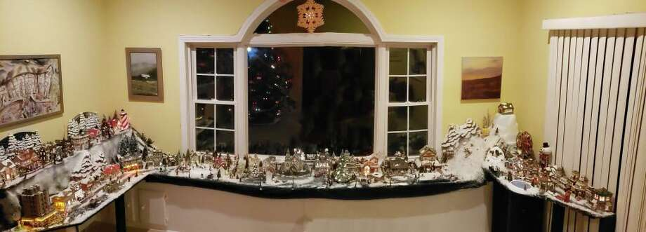 "Lou Ursone's ""Louiseville"" Christmas village in his Stamford home. Photo: Contributed Photo"