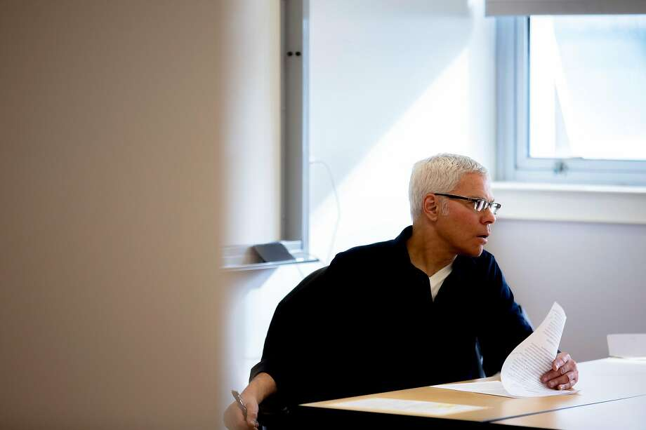 Steve Budd teaches the last day of the memoir writing class that students say gave them an outlet beyond just writing skills. Photo: Santiago Mejia / The Chronicle