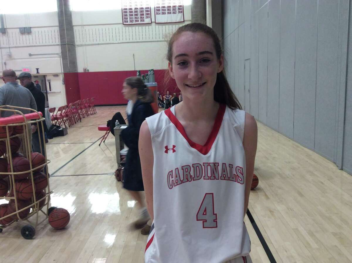 Greenwich senior forward Ciara Munnelly helped the Cardinals edge Fairfield Ludlowe, 65-50, on Monday, December 23, 2019, in Greenwich.