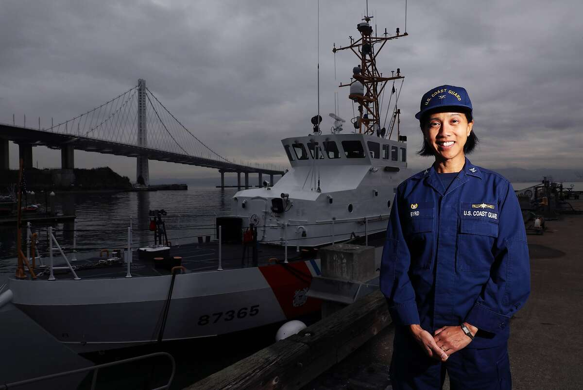 Captain Marie Byrd, the commander of the Coast Guard's Sector San Francisco, which spans from the Oregon border to San Luis Obispo and includes bays, lakes and other inland waterways, poses for a portrait in Yerba Buena Island, Calif., on Thursday, December 5, 2019.