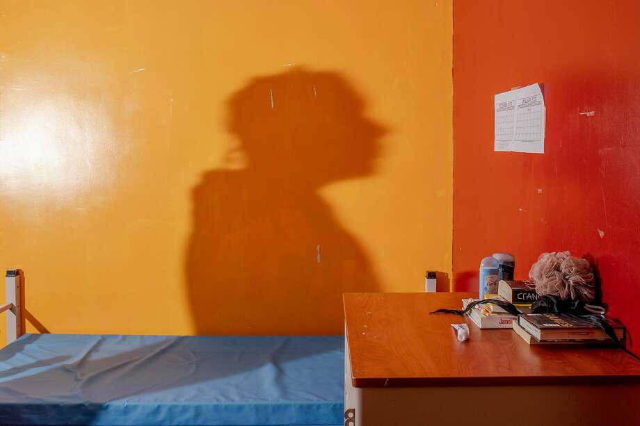 November 20 2019. Queens New York.  The shadow of a resident in his room at the Astoria location.   In New York City, some youth home programs offer alternatives to youth incarceration, in an attempt to create a rehabilitation as opposed to punitive model for youth in the criminal justice system. On Tuesday afternoon, the Chronicle was given a tour of two Sheltering Arms shelter locations in Queens New York. Photo: Natalie Keyssar / Special To The Chronicle