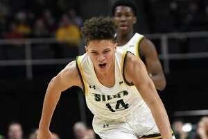 Siena's Jordan King makes a break away against Canisius during a basketball game on Monday, Dec. 23, 2019 in Albany, N.Y.  (Lori Van Buren/Times Union)