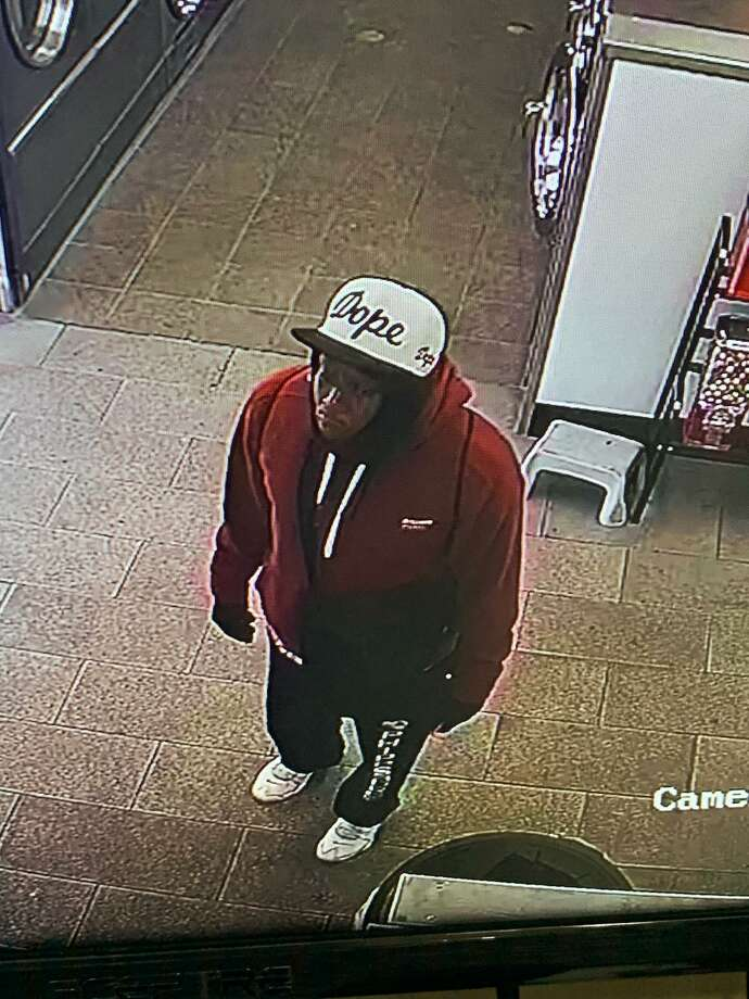 Hamden police are looking to identify a man who allegedly brandished a box cutter and insinuated he had a gun while attempting to rob another individual Sunday. Photo: Hamden Police Department