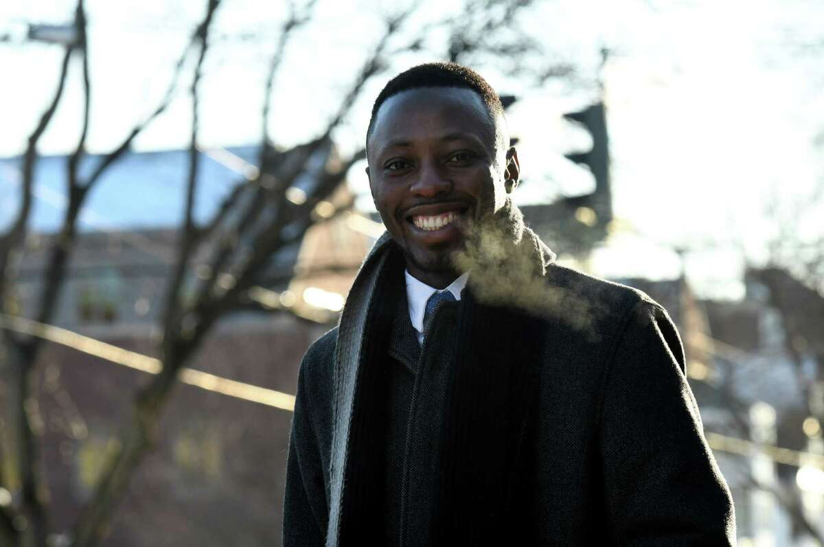 Albany County legislator-elect, Beroro Efekoro is pictured on Friday, Dec. 20, 2019, in Albany, N.Y. (Will Waldron/Times Union)