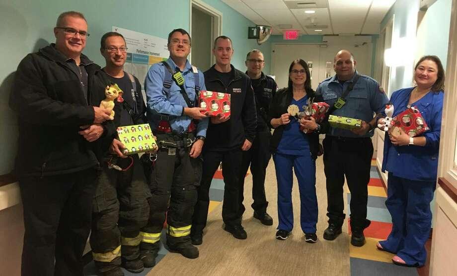 From left: MJ Millea, Matt Romeo, Lt. Tom Lenart, Brad Kear, Dan Byrne, Debby Ricketts, RN, Lt. Dan Natale and Kim Wholey, RN Photo: / Contributed / Photo Courtesy Of Greenwich Hospital