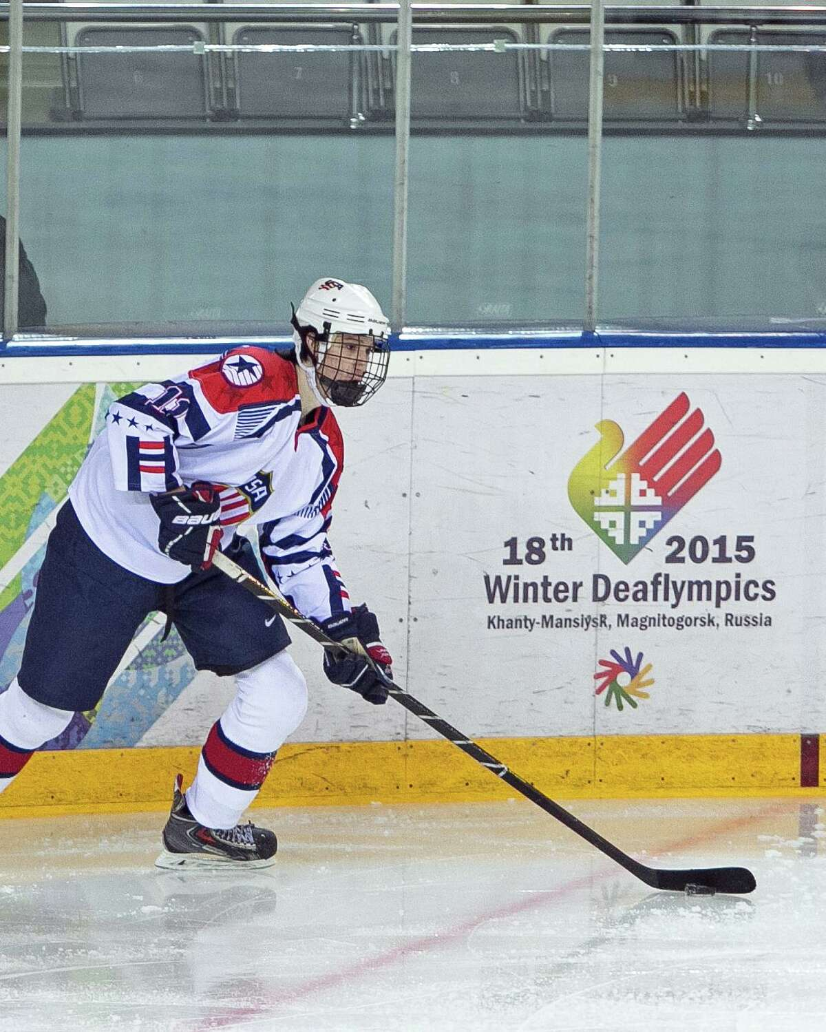 Garrett Gintoli of Shelton won a bronze medal with the U.S. ice hockey team last month at the 2015 Winter Deaflympics in Russia. Gintoli, who played junior hockey with the South Shore (Mass.) Kings this season, was joined on Team USA by his older brother, Peter.
