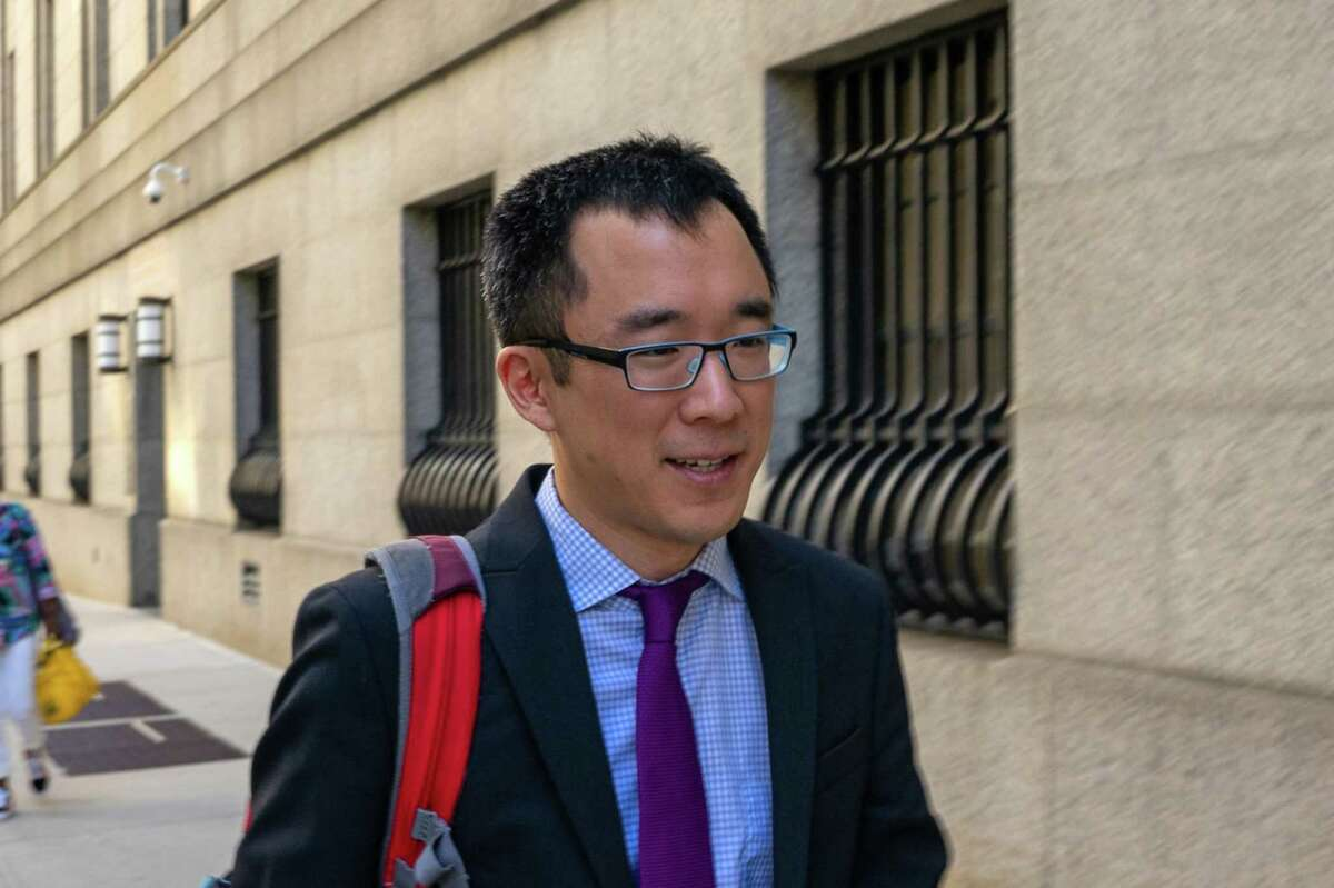 Richard Lee, former fund manager for SAC Capital Advisors LP, departs from federal court in New York on Aug. 26, 2019.