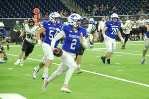 Friendswood's Luke Grden (2) returns for his fourth year quarterbacking the Mustang offense.