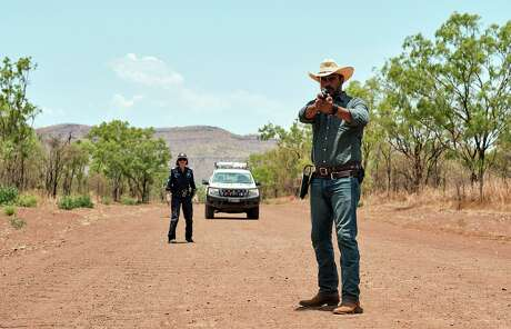 Judy Davis and Aaron Pedersen are on the trail of a murderer in the Outback in 'Mystery Road'