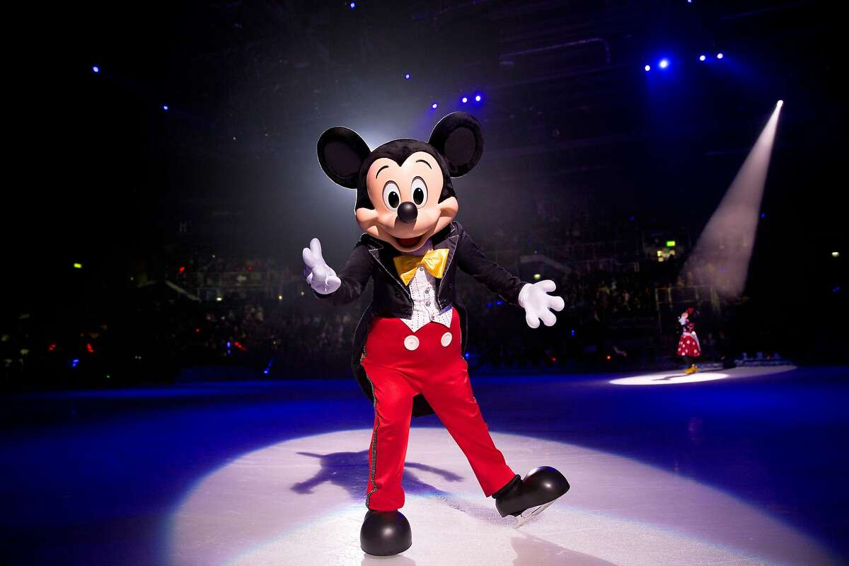 """Mickey Mouse will be on hand when Disney on Ice's """"Dream Big"""" skates into Bridgeport's Webster Bank Arena for seven shows, Jan. 2-5."""