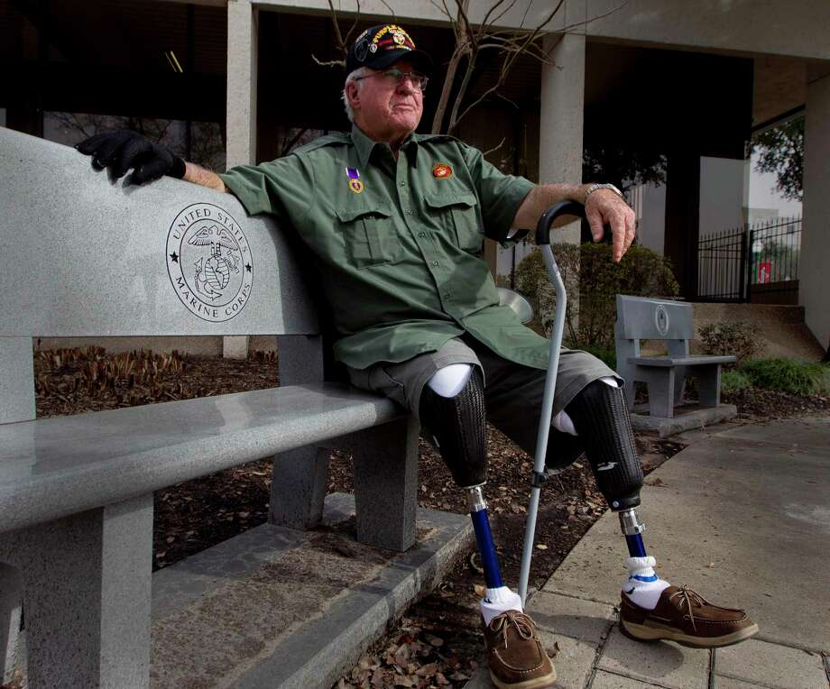 Retired Marine Corps Cpl. Jimmie Edwards III continues to advocate for veterans 50 years after he was injured in an ambush during his service in Vietnam. Photo: Jason Fochtman, Staff Photographer / Houston Chronicle / Internal