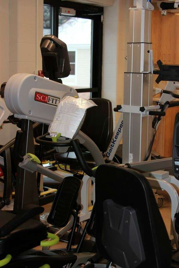 The Maples Medical Care Facility is turning the old cafeteria into a therapy gym, as part of the renovation process for what remains of the old building. (Photo/Colin Merry)