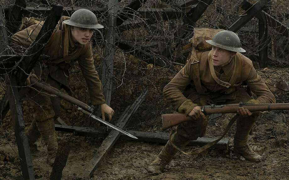 """Dean-Charles Chapman and George MacKay in the World War I movie """"1917."""" Photo: Francois Duhamel / DreamWorks Pictures"""