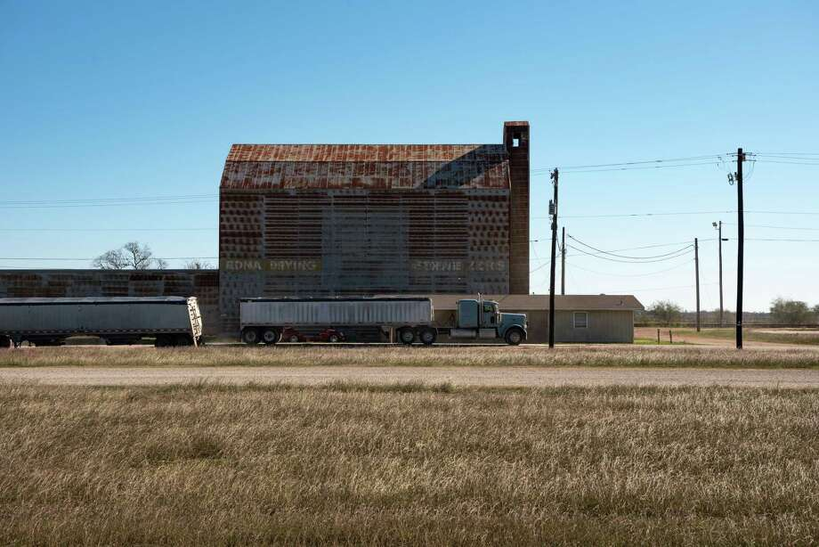 A rice warehouse in Edna, Texas on Dec. 16, 2019. Before closing, Walmart was Edna's engine - one of its largest employers, a big taxpayer, a 24-hour social hub in a community of about 5,700 people surrounded by rice fields, ranches and grassland. (Carter Johnston/The New York Times) Photo: CARTER JOHNSTON, NYT / NYTNS
