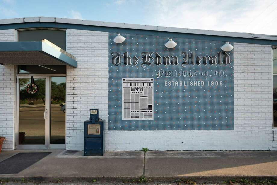 The Jackson County Herald-Tribune, in Edna, Texas on Dec. 16, 2019, broke the news on it's Facebook page the Walmart was closing the Edna store. (Carter Johnston/The New York Times) Photo: CARTER JOHNSTON, NYT / NYTNS