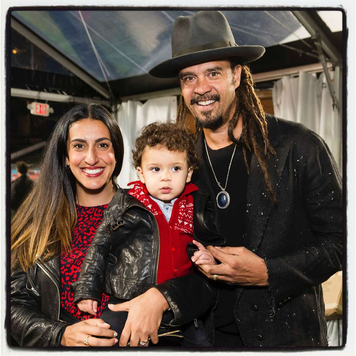 Sara and Michael Franti were honored during Holiday Heroes at Oracle Park. Dec. 10, 2019.
