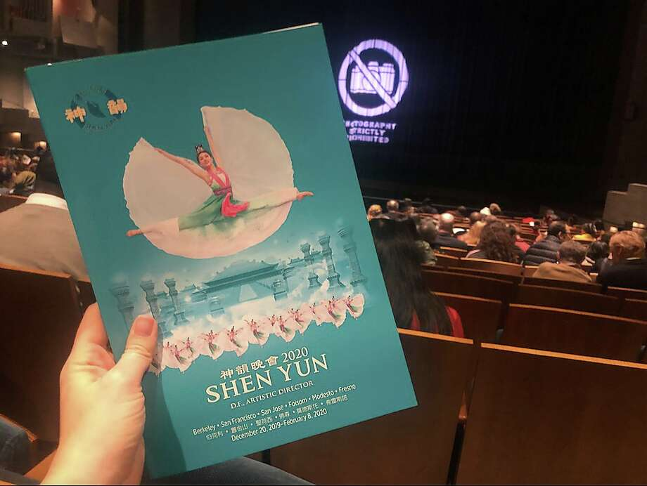 Before the show started at a Dec. 20, 2019 performance of Shen Yun at Zellerbach Hall in Berkeley. Photo: Alix Martichoux, SFGATE