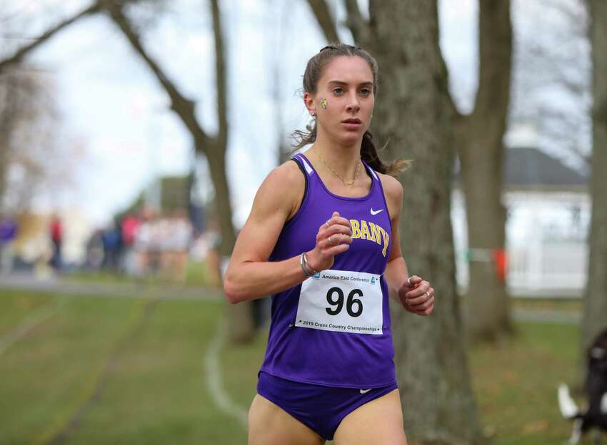 UAlbany's Hannah Reinhardt captures the America East's championship race for the second straight year. (Courtesy of Hannah Reinhardt)