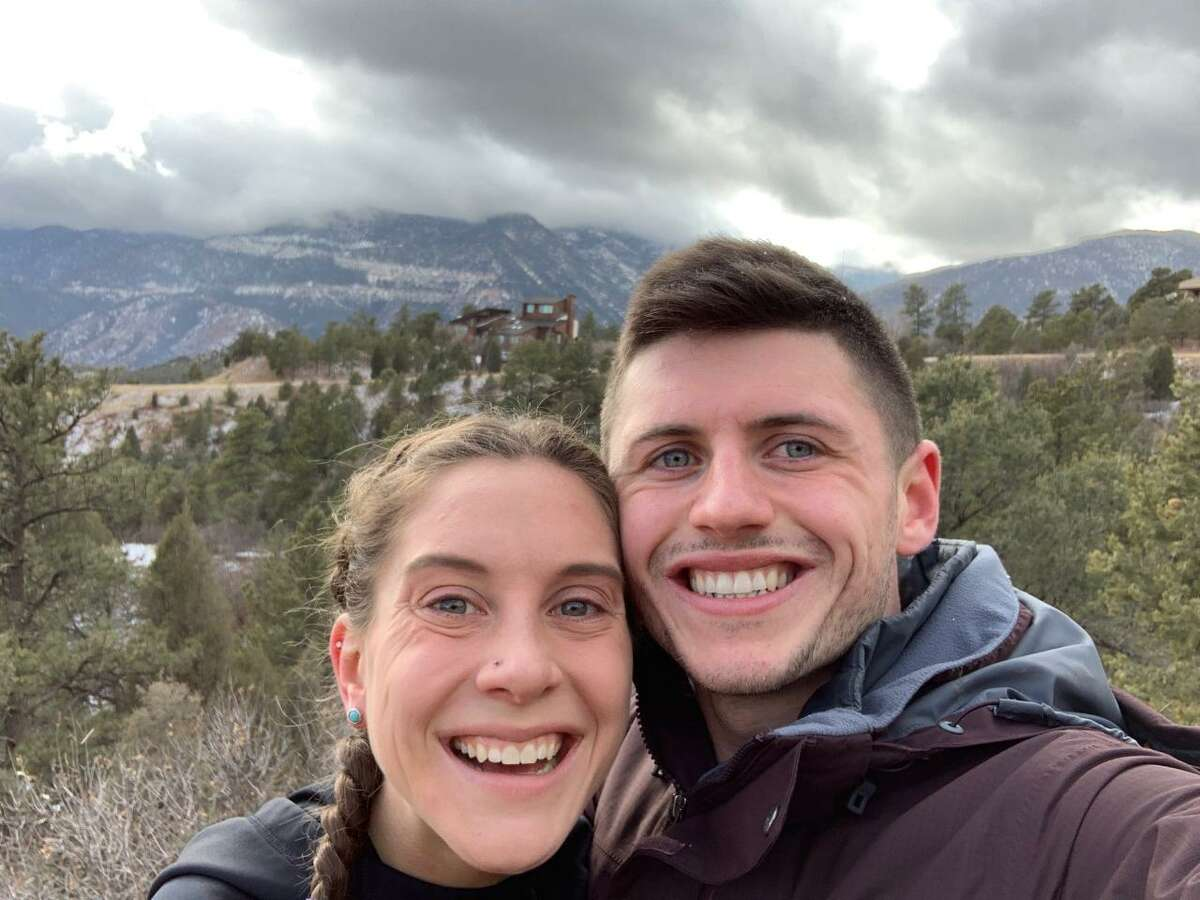 Hannah Reinhardt and boyfriend Jake Johnson in Pikes Peak in Colorado last year. (Courtesy of Hannah Reinhardt)