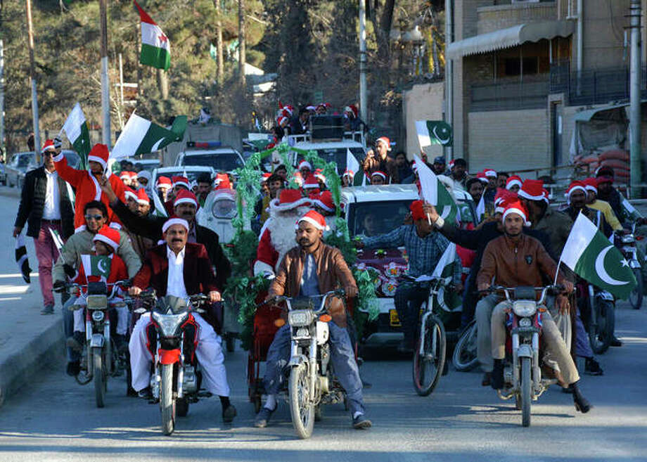 Pakistan Christians rally ahead of the Christmas holiday in Quetta, Pakistan. (AP Photo/Arshad Butt)